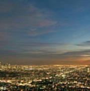 Los Angeles City Of Angels Art Print