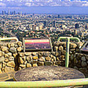Los Angeles Skyline From Mulholland Art Print