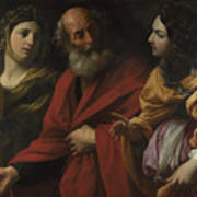 Lot And His Daughters Leaving Sodom Art Print