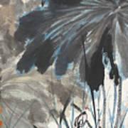 Lotus In The Pond Art Print