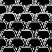 Louis Vuitton Black Art Print