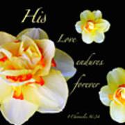 Love Endures Forever Art Print