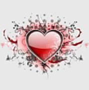 Hearts 8 T-shirt Art Print