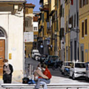 Lovers In Santa Croce Art Print