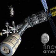Lunar Cycler Centrifuge Art Print