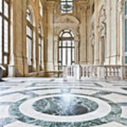 Luxury Interior In Palazzo Madama, Turin, Italy Art Print