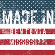 Made In Bentonia, Mississippi Art Print