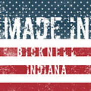 Made In Bicknell, Indiana Art Print