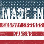 Made In Conway Springs, Kansas Art Print