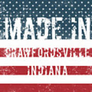 Made In Crawfordsville, Indiana Art Print