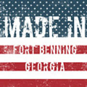 Made In Fort Benning, Georgia Art Print
