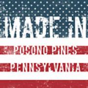 Made In Pocono Pines, Pennsylvania Art Print