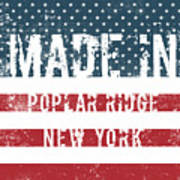 Made In Poplar Ridge, New York Art Print