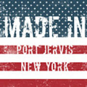 Made In Port Jervis, New York Art Print