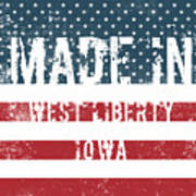 Made In West Liberty, Iowa Art Print
