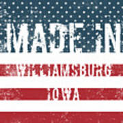 Made In Williamsburg, Iowa Art Print