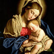 Madonna And Child Art Print by Il Sassoferrato