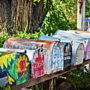 Madrid Mailboxes Art Print