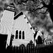 Magnolia Springs Alabama Church Art Print
