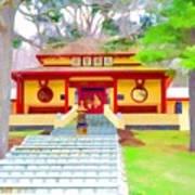 Mahayana Buddhist Temple 1 Art Print