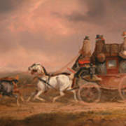 Mail Coaches On The Road Art Print