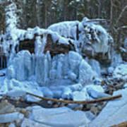 Maligne Canyon Frozen Art Print