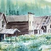 Mammoth Ghost Town Montana Art Print