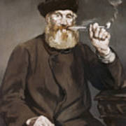 Man Smoking A Pipe Art Print