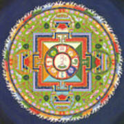 Mandala Of Avalokiteshvara           Art Print by Carmen Mensink