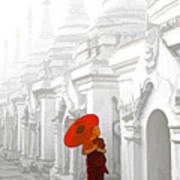 Mandalay Monk Art Print