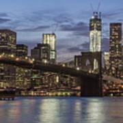Manhattan Skyline New York Art Print
