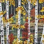 Manitoba Birch  Art Print by Lynn Huttinga