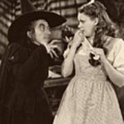 Margaret Hamilton And Judy Garland In The Wizard Of Oz 1939 Art Print