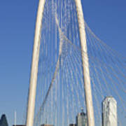 Margaret Hunt Hill Bridge In Dallas - Texas Art Print