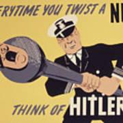 Marine Corps Recruiting Poster From World War Art Print