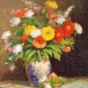 Market Flowers Impression Art Print