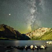 Mars And The Milky Way Art Print