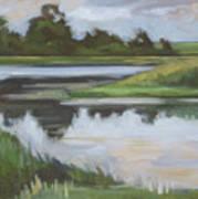 Marsh, June Afternoon Art Print