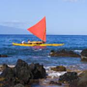 Maui Sailing Canoe Art Print