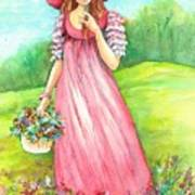 Meadow Maid Art Print