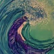 Mermaid Wave Art Print