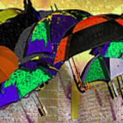 Metro Rains Art Print