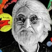 Mf Hussain Art Print