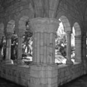 Miami Monastery In Black And White Art Print