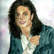 Michael Jackson - Will You Be There Art Print by Nicole Wang