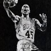 Michael Jordan Print by Hari Mohan