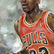 Michael Jordan Art Print by Ylli Haruni