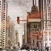 Michigan Ave - Chicago  Art Print