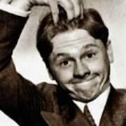 Mickey Rooney, Vintage Actor Art Print
