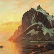Midnattsol Lofoten Art Print
